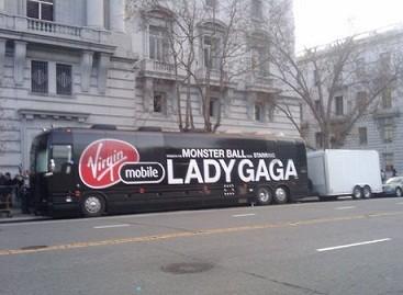 Lady Gagos autobusai