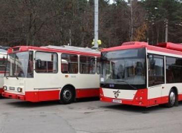 Pristatytas pirmasis Vilniuje surinktas troleibusas