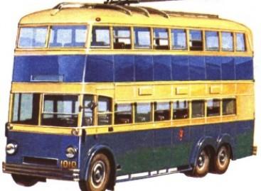 ЯТБ-3 – dviaukštis troleibusas iš praėjusio amžiaus