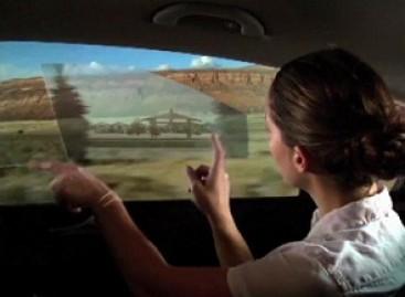 Interaktyvūs automobilių stiklai
