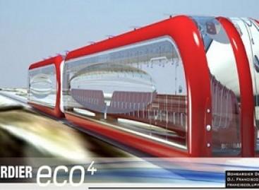 """""""Bombardier"""" traukinys, varomas saulės energija"""