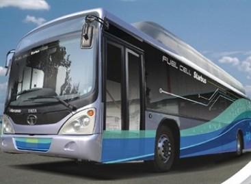 Indijoje – vandenilio kuro elementais varomi autobusai