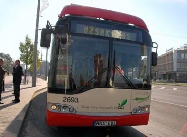 Išlipti pro priekines sostinės viešojo transporto duris – negalima