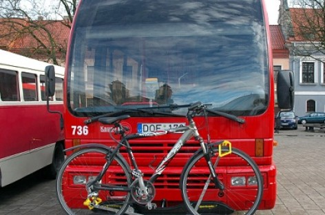 Kauno autobusai pritaikyti vežti dviračius