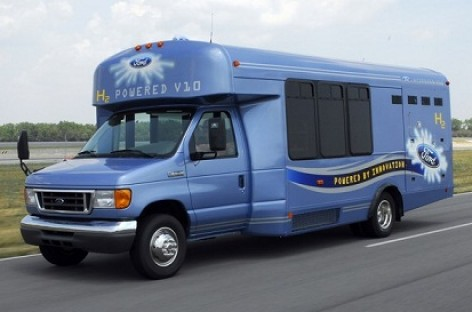 Ford E-450 – su vandenilio kuro elementais
