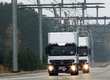 Jau išbandomi troleibusai sunkvežimiai