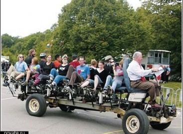 """""""Busycle"""" – autobusas dviratis penkiolikai žmonių"""