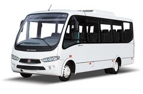 """KAMAZ ir """"Marcopolo"""" surinkinės autobusus Baškirijoje"""