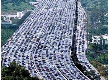 Didžiausia pasaulyje automobilių spūstis