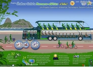 """""""Cycling Bus"""" — keleivių jėga varomas autobusas"""