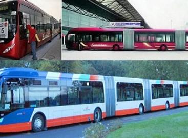 Ilgiausias autobusas važinėja Kinijos gatvėmis