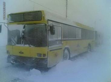 Autobusai – rūsčiame speige