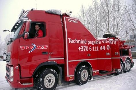 TOKS įsigijo ypač galingą techninės pagalbos automobilį