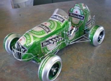 Automobiliai – iš alaus skardinių