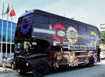 Autobusas – šokolado fabrikas ant ratų