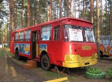 Nurašyti autobusai – vaikų vasaros stovyklai