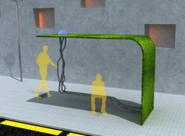 Žaliuojančios autobusų stotelės