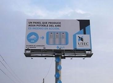 Reklaminiai skydai, surenkantys vandenį