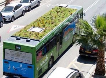 Ispanijoje – autobusas žaliuojančiu stogu