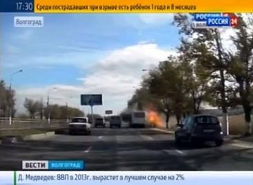 Autobusą Volgograde susprogdino teroristė mirtininkė (video)