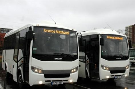 "Jonavoje – du nauji ""Otokar"" autobusai"