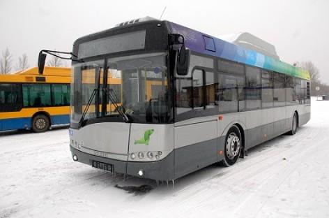 """Naujieji """"Solaris Urbino CNG"""" keleivio akimis"""
