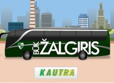 """""""Žalgirio"""" gerbėjams – galimybė pasivažinėti komandos autobusu"""