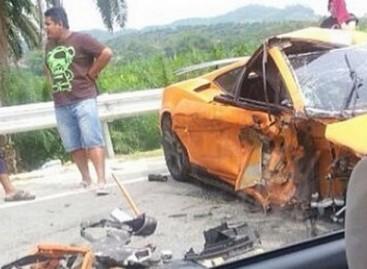 """Sudaužytas vienas iš rečiausių """"Lamborghini"""""""