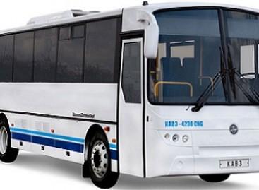 KAVZ pristatė suspaustas gamtines dujas naudojantį tarpmiestinį autobusą