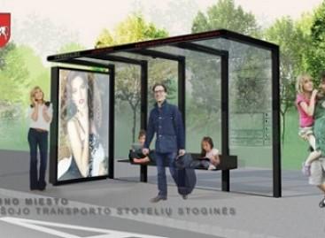 Pirmosios modernios viešojo transporto stotelių stoginės Kaune bus įrengtos šį rudenį