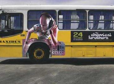 Originalios reklamos ant keleivinio transporto priemonių