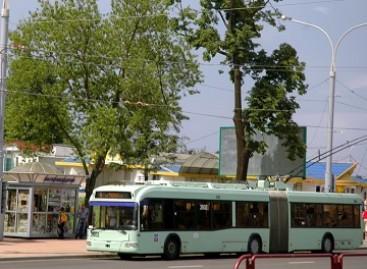 Vitebske nupirkta naujų troleibusų ir autobusų