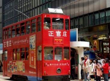 Unikalus transportas – dviaukštis Honkongo tramvajus
