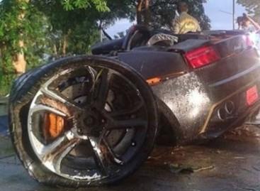"""Lamborghini Gallardo"" avarija lėkus milžinišku greičiu"