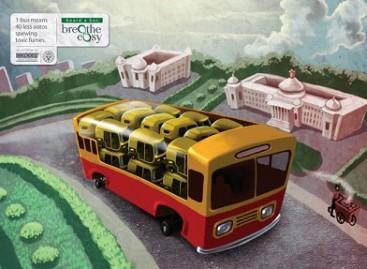 Skuteriai, mopedai, automobiliai… autobuse