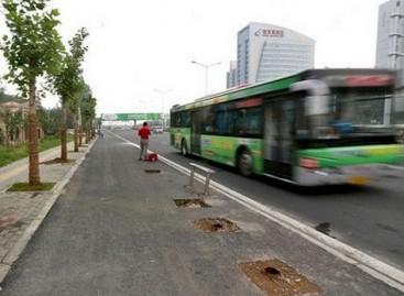 Kinijos mieste per naktį pavogtos… 24 autobusų stotelės