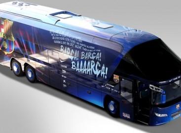 Barselonos futbolo klubas pristatė naują autobuso dizainą (video)