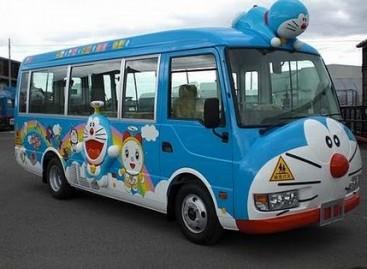 Originalūs japoniški mokykliniai autobusai
