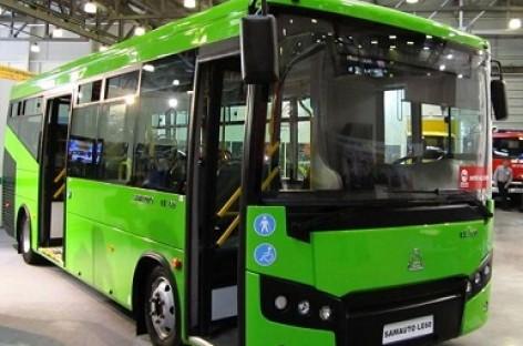 Pristatytas naujas uzbekiškas autobusas