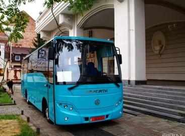 """Ukrainoje pristatytas naujas autobusas """"Karpaty"""""""