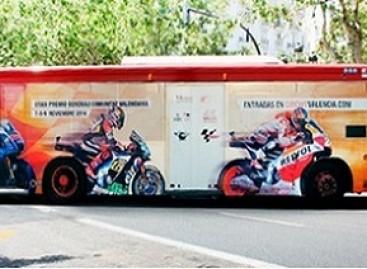 Ant Valensijos autobusų – originali reklama
