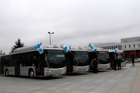 Marijampolėje pristatyti nauji autobusai
