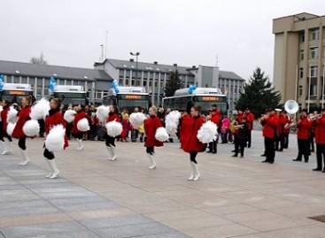 Marijampolėje – naujų autobusų pristatymo šventė