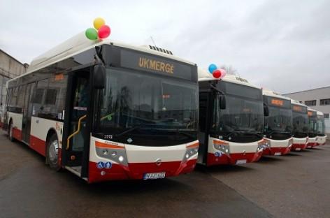 Ukmergėje pristatyti nauji autobusai