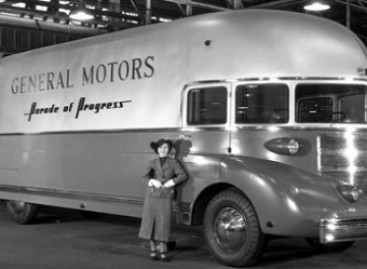 """Stilizuotas autobusas – """"Progreso paradui"""""""
