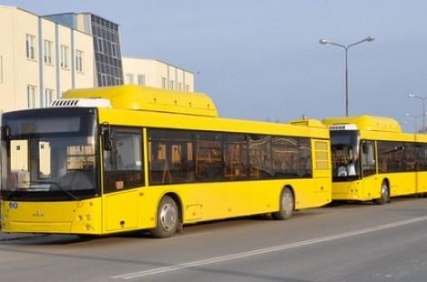 """""""Minsktrans"""" sulaukė dešimties dujinių autobusų"""