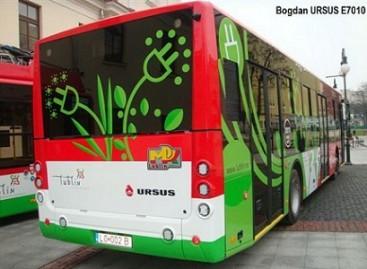 "Ukrainiečių ir lenkų elektrinis autobusas ""Bogdan URSUS E7010"" bandomas Liubline"