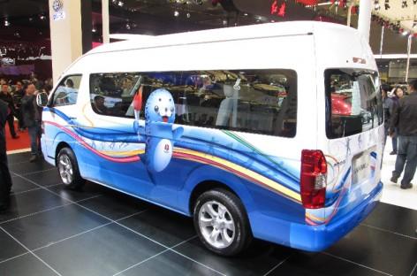 Šanchajaus parodoje – kinietiškas mikroautobusas