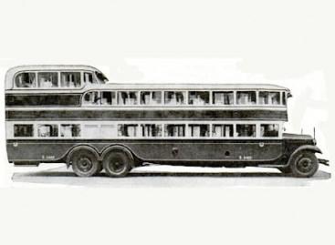 Triaukštis autobusas – iš Italijos