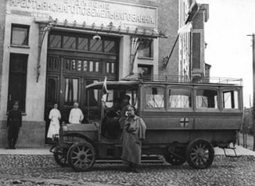 Autobusas, teikęs pagalbą nukentėjusiems per Pirmąjį pasaulinį karą